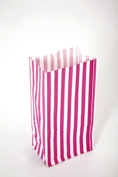 Large striped paper bags